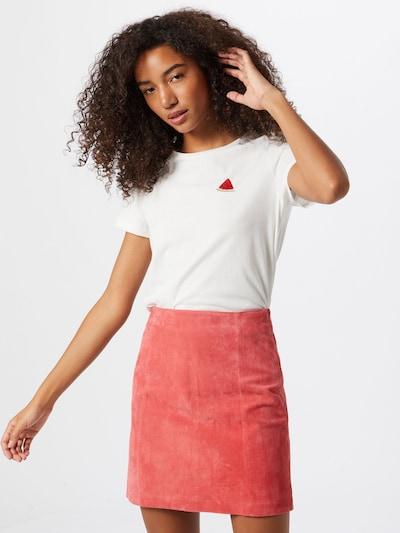 VERO MODA Tričko 'PETAFRANCIS' - červená / bílá: Pohled zepředu