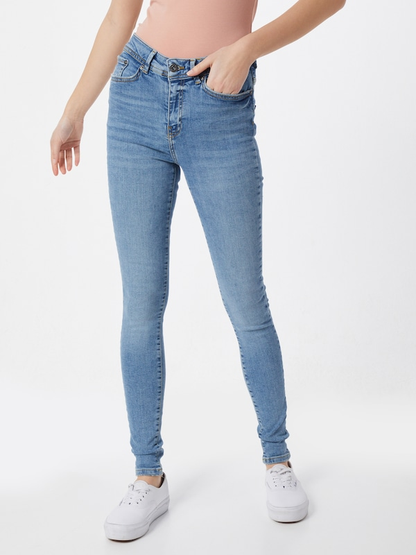 Noisy may Jeans 'NMVICKY NW SKINNY EX JEANS NOOS' in blue denim: Frontalansicht