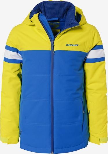 ZIENER Skijacke 'Alarm' in blau / gelb / weiß, Produktansicht