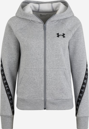 UNDER ARMOUR Sweatjacke in dunkelgrau / schwarz, Produktansicht