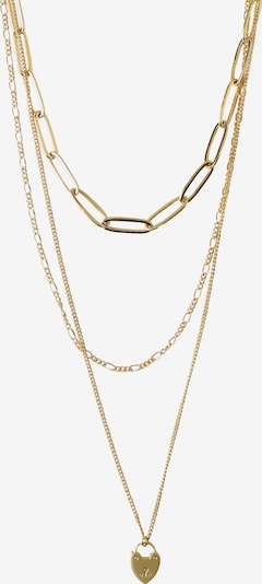 Orelia Kette 'Heart Padlock Chain Layered TH' in gold, Produktansicht