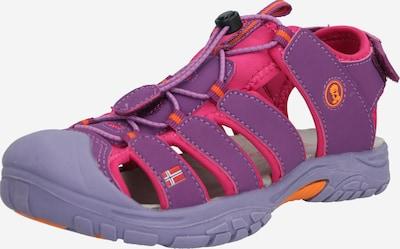 TROLLKIDS Sandales 'Kvalvika' en violet / fuchsia, Vue avec produit