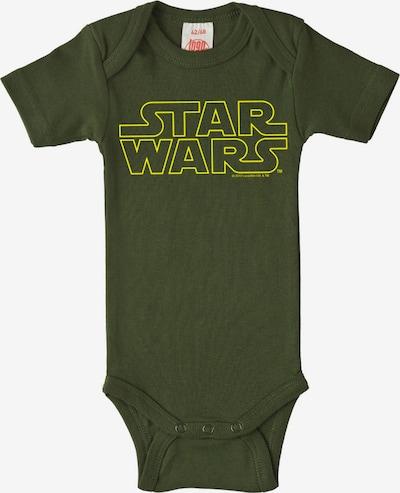 LOGOSHIRT Baby-Body Krieg der Sterne - Logo - Star Wars - in gelb / khaki / oliv, Produktansicht