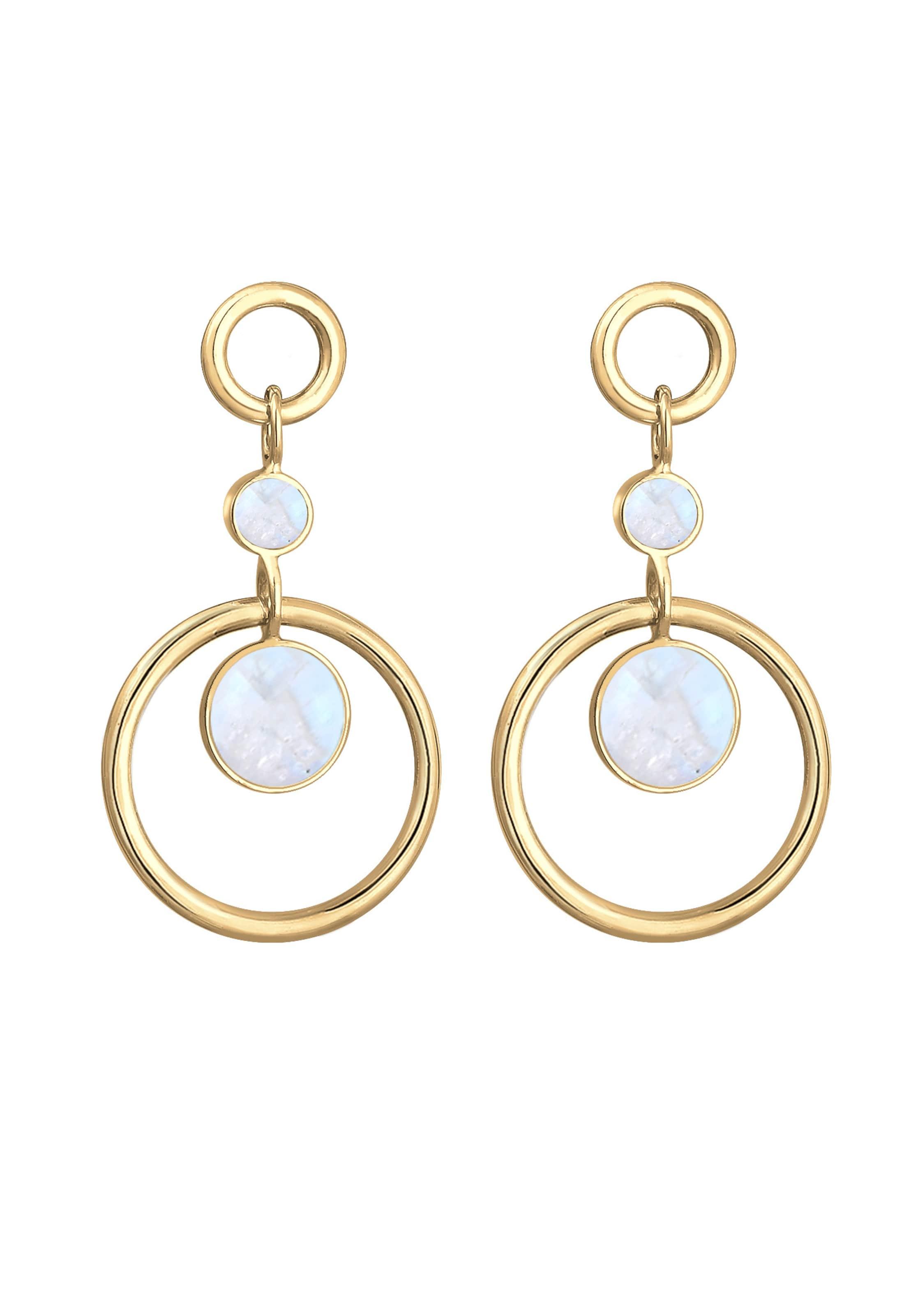 Elli D'oreilles Boucles Bleu En ClairOr Premium wX08nNOPk