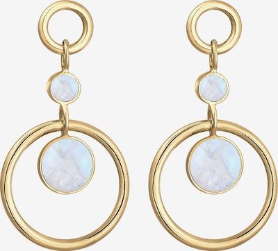 ELLI PREMIUM Boucles d'oreilles en bleu clair / or, Vue avec produit