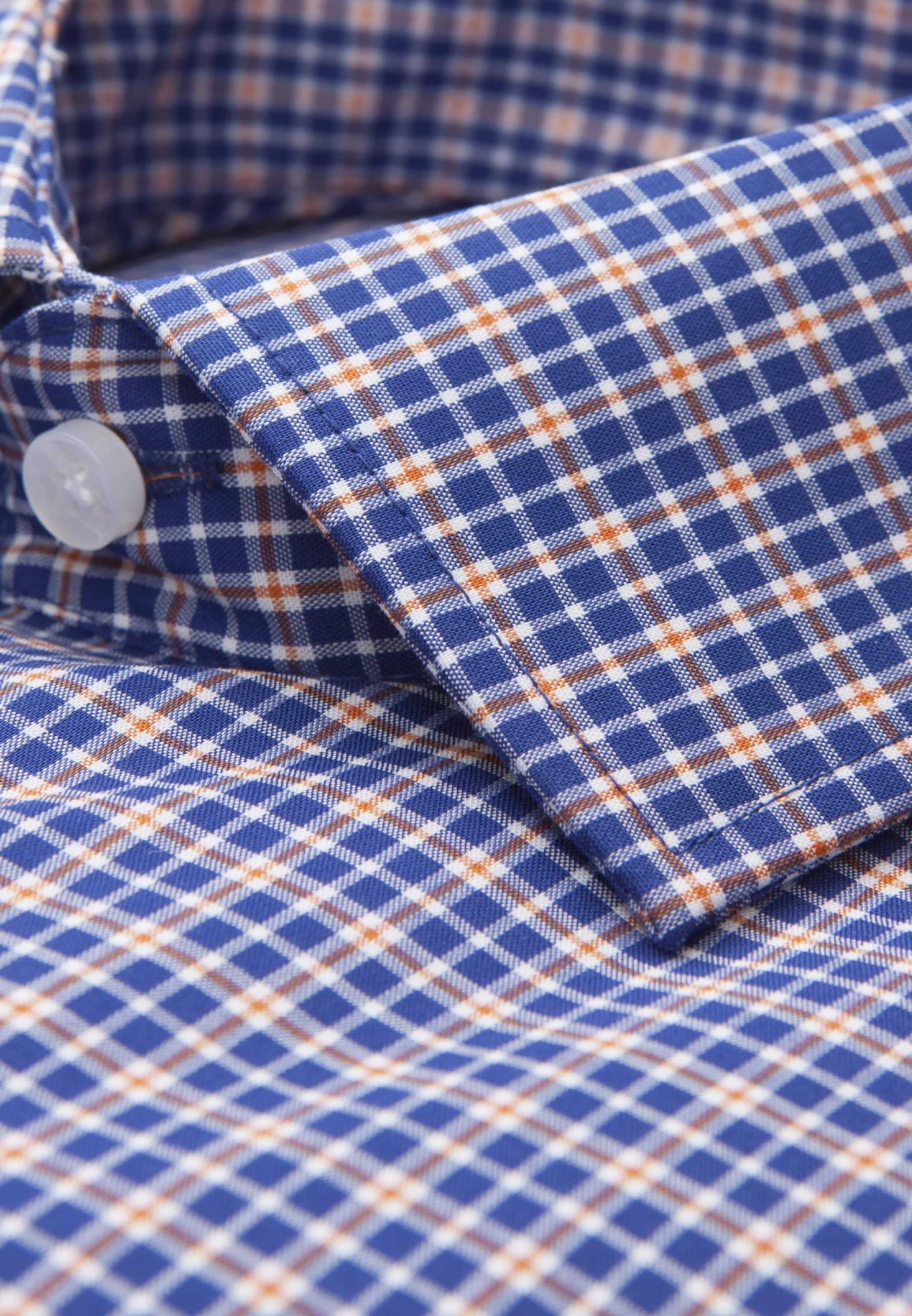 Seidensticker In Weiß 'modern' BlauOrange Hemd CsxrthQd