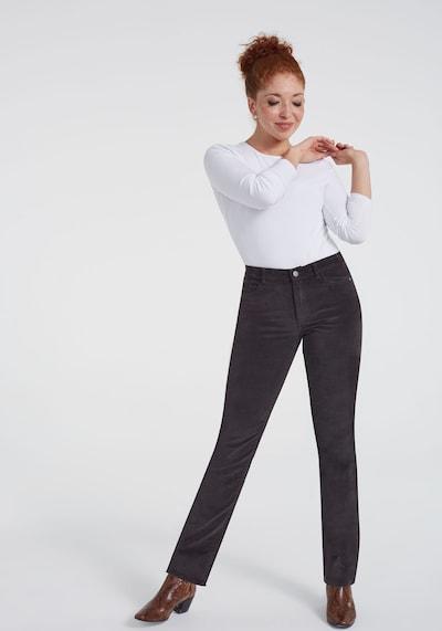 Long Tall Sally Cord-Hose für große Frauen in grau, Modelansicht