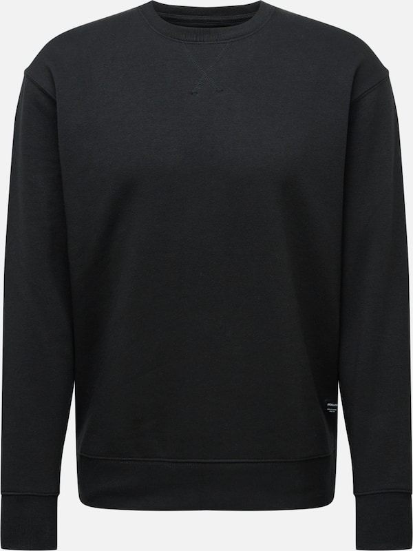 JACK & JONES Sweatshirt 'SOFT' in schwarz, Produktansicht