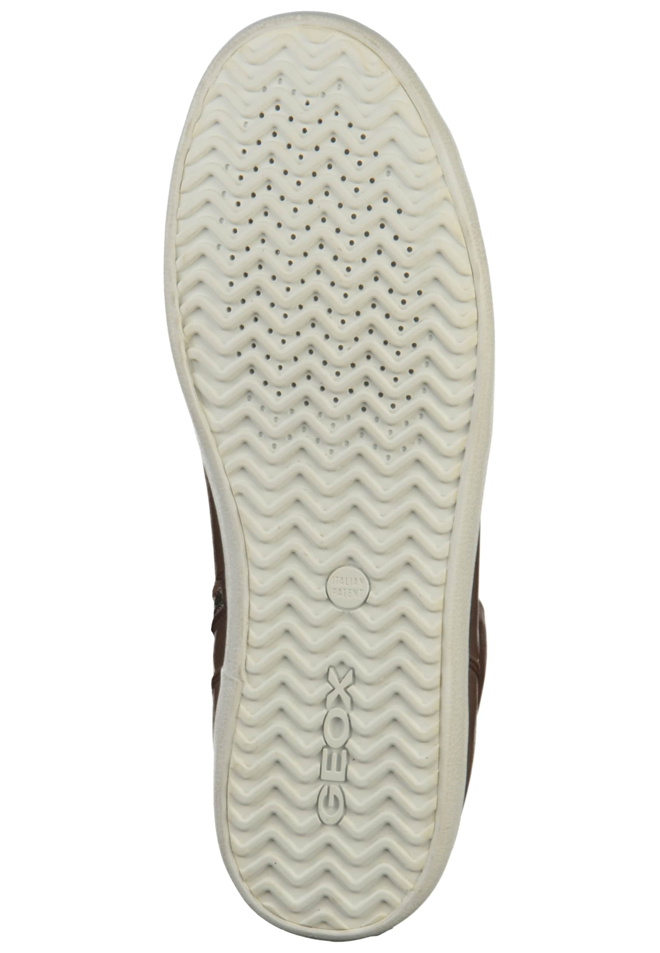 GEOX Sneakers hoog in Bruin / Natuurwit Leer 015401000150410