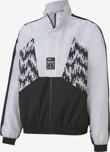 PUMA Trainingsjacke in graumeliert / schwarz / weiß, Produktansicht
