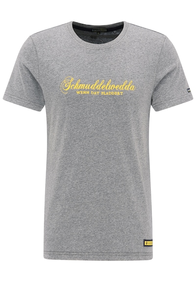 Schmuddelwedda Shirt in de kleur Geel / Grijs gemêleerd, Productweergave