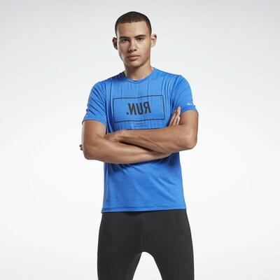 REEBOK Functioneel shirt in de kleur Marine / Hemelsblauw, Productweergave