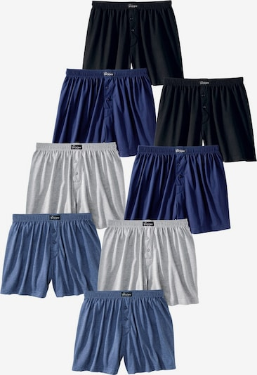 LE JOGGER Boxer in blau / grau / schwarz, Produktansicht