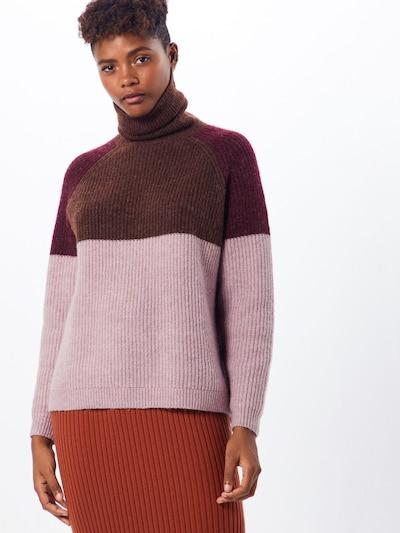 Megztinis 'CORA' iš ONLY , spalva - ruda / ryškiai rožinė spalva / vyno raudona spalva: Vaizdas iš priekio