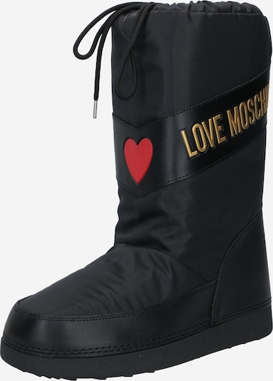 Love Moschino Après-ski en or / noir, Vue avec produit