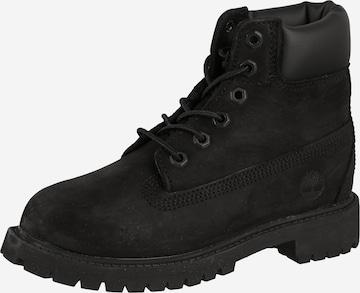 TIMBERLAND Schnürstiefel 'Premium Boot' in Schwarz