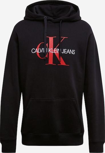 Calvin Klein Jeans Mikina 'Monogram' - červená / černá, Produkt