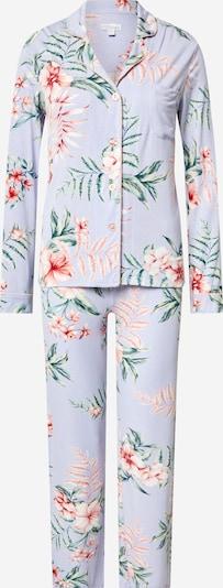 PJ Salvage Pyjama 'Dream' in hellblau / tanne / rosa / rostrot / weiß, Produktansicht