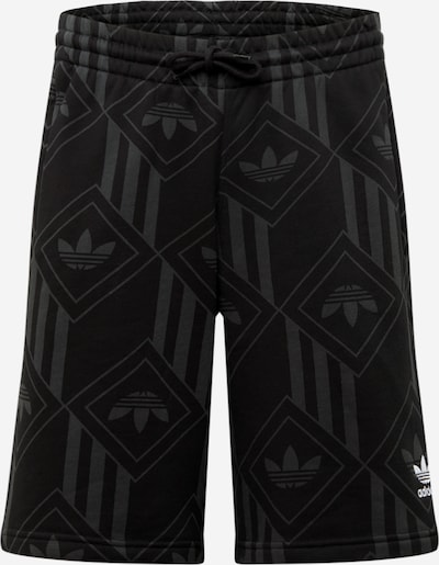 ADIDAS ORIGINALS Short  'Mono Tnl' in grau / schwarz / weiß, Produktansicht