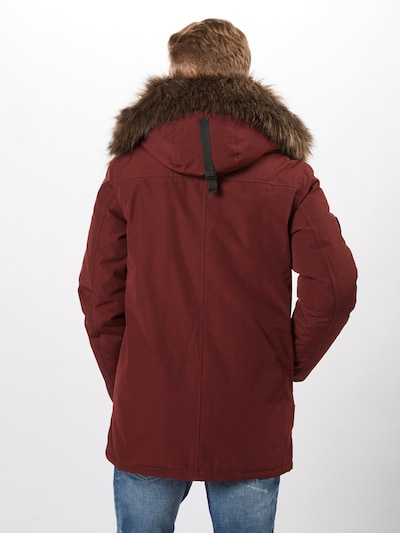 Superdry Parka 'ROOKIE DOWN' in burgunder: Rückansicht