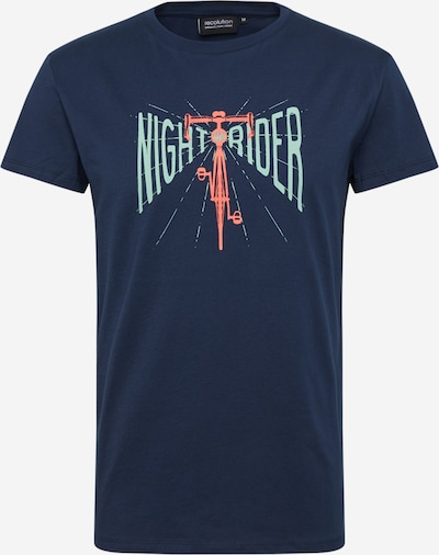 recolution T-Shirt in navy / hellblau / orange, Produktansicht
