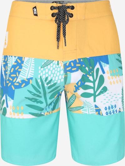 Picture Organic Clothing Kąpielówki sportowe w kolorze żółty / zielonym, Podgląd produktu