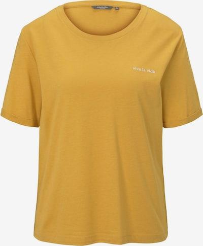 MINE TO FIVE T-Shirt Lockeres T-Shirt mit kleiner Stickerei in gelb, Produktansicht