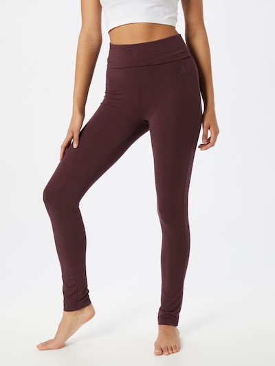 CURARE Yogawear Sport-Hose in bordeaux: Frontalansicht