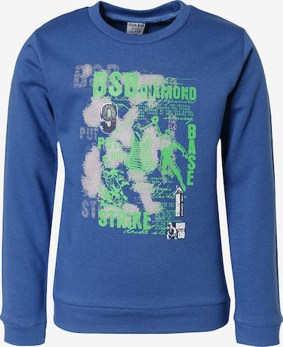 Boley Sweatshirt in blau / grau / limette, Produktansicht