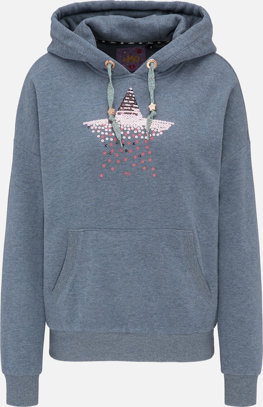 MYMO Sweatshirt in de kleur Smoky blue / Pink, Productweergave