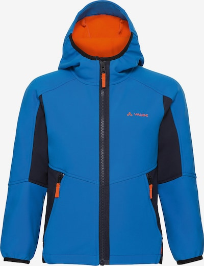 VAUDE Softshelljacke 'Rondane III' in blau / orange / schwarz, Produktansicht