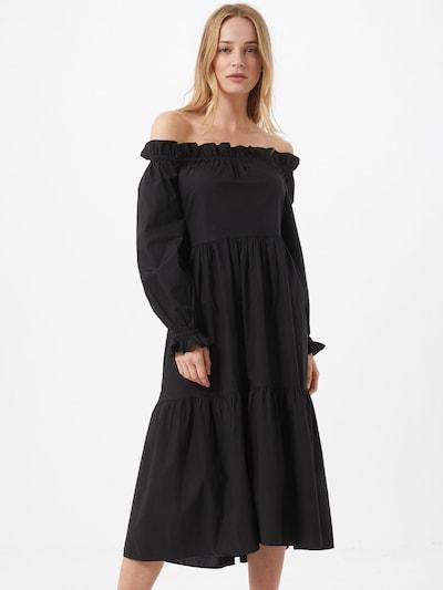 River Island Robe 'Bardot' en noir: Vue de face