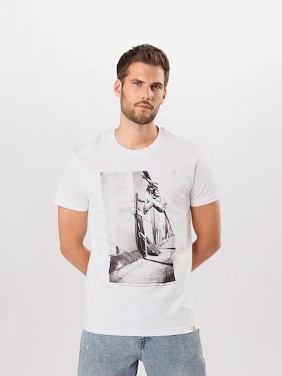 Tricou Iriedaily pe gri / alb, Vizualizare model