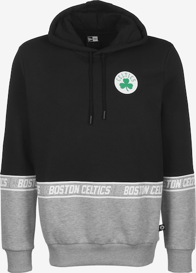 NEW ERA Hoodie 'NBA Boston Celtics' in grau / schwarz, Produktansicht