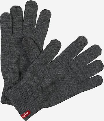 LEVI'S Full Finger Gloves 'Ben' in Grey