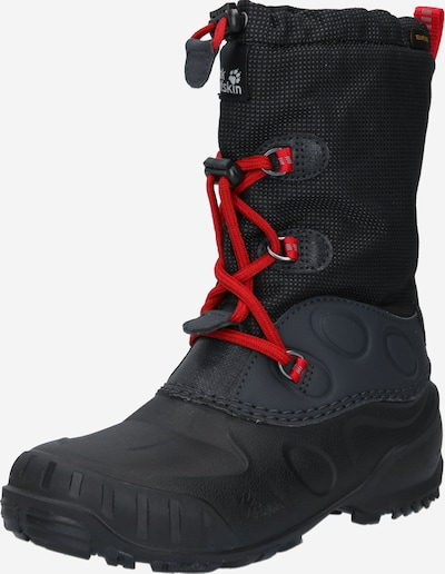 JACK WOLFSKIN Snowboots 'ICELAND' in rot / schwarz, Produktansicht