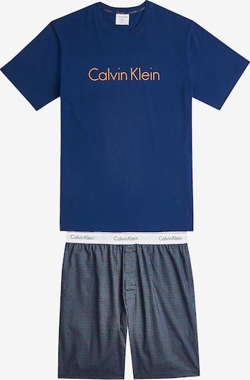 Calvin Klein Underwear Pyjama in dunkelblau / gelb / weiß, Produktansicht