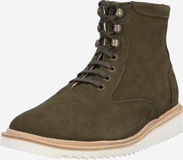 EKN Footwear Boots med snörning 'DESERT HIGH RIPPLE' i grön