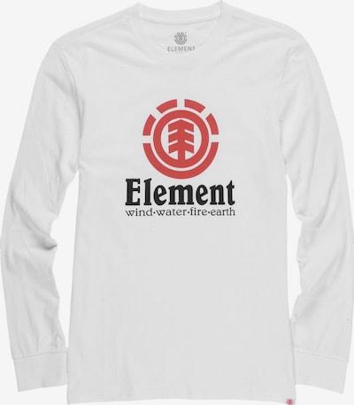 ELEMENT Shirt in rot / schwarz / weiß, Produktansicht