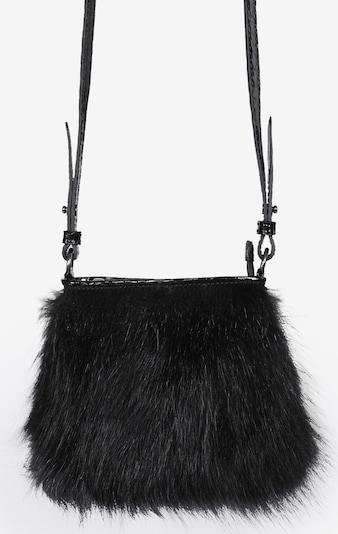 Silvio Tossi Lederhand- und Schultertasche mit Lackleder in schwarz, Produktansicht