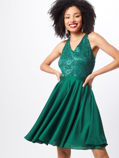 SWING Robe de cocktail en vert foncé: Vue de face