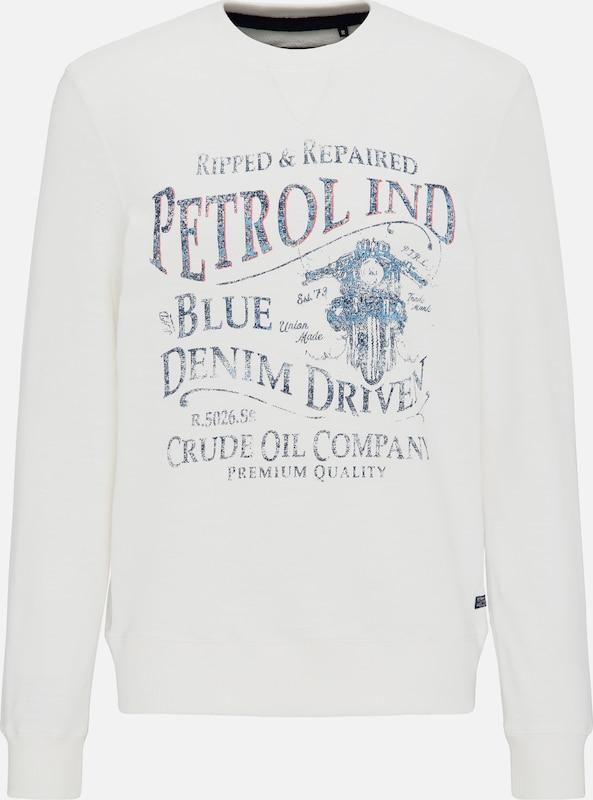 Petrol Industries Sweater in blau   rot   weiß  Bequem und günstig