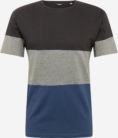 Only & Sons T-Shirt 'NEWBAILEY' en bleu / gris chiné / noir, Vue avec produit