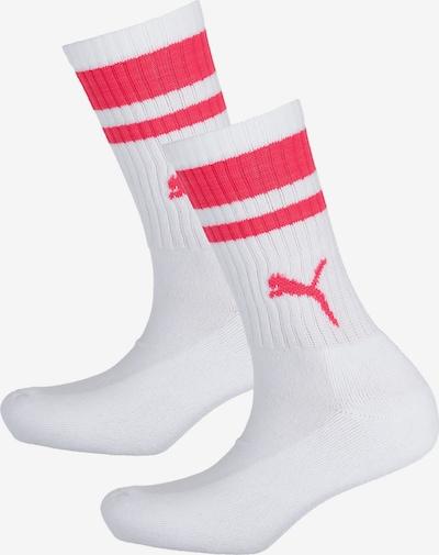 PUMA 2 Paar Socken in cranberry / weiß, Produktansicht