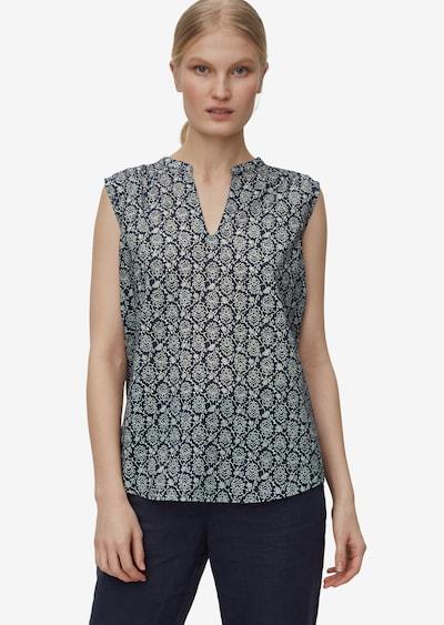 Marc O'Polo Blusenshirt in grau / weiß, Modelansicht