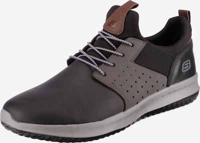 SKECHERS Chaussure à lacets 'Delson Axton' en gris foncé / noir, Vue avec produit