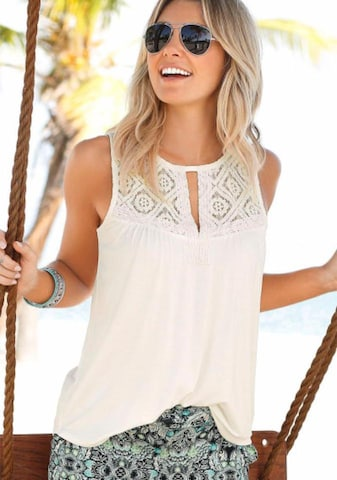 LASCANA Blouse in White