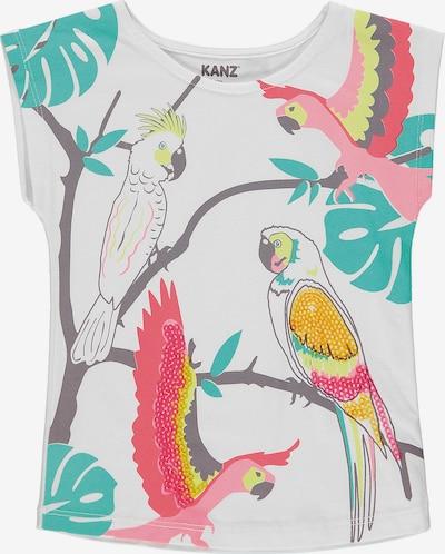 KANZ Shirt 'Papagei' in mischfarben / weiß, Produktansicht