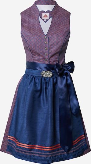SPIETH & WENSKY Dirndl 'Pocahontas' 55cm in blau / lila, Produktansicht