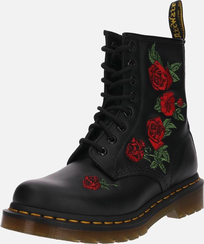 Embroidery' Lacets Eye '8 DrMartens Noir En Boot 1460 Bottes À Ybfyv6g7
